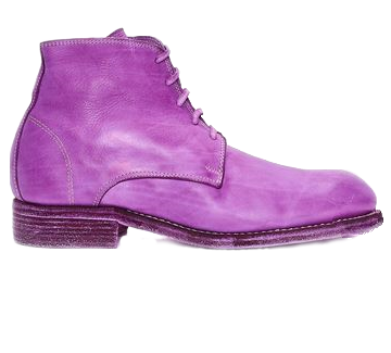 Purple or Green Leather Boots | Russian Design